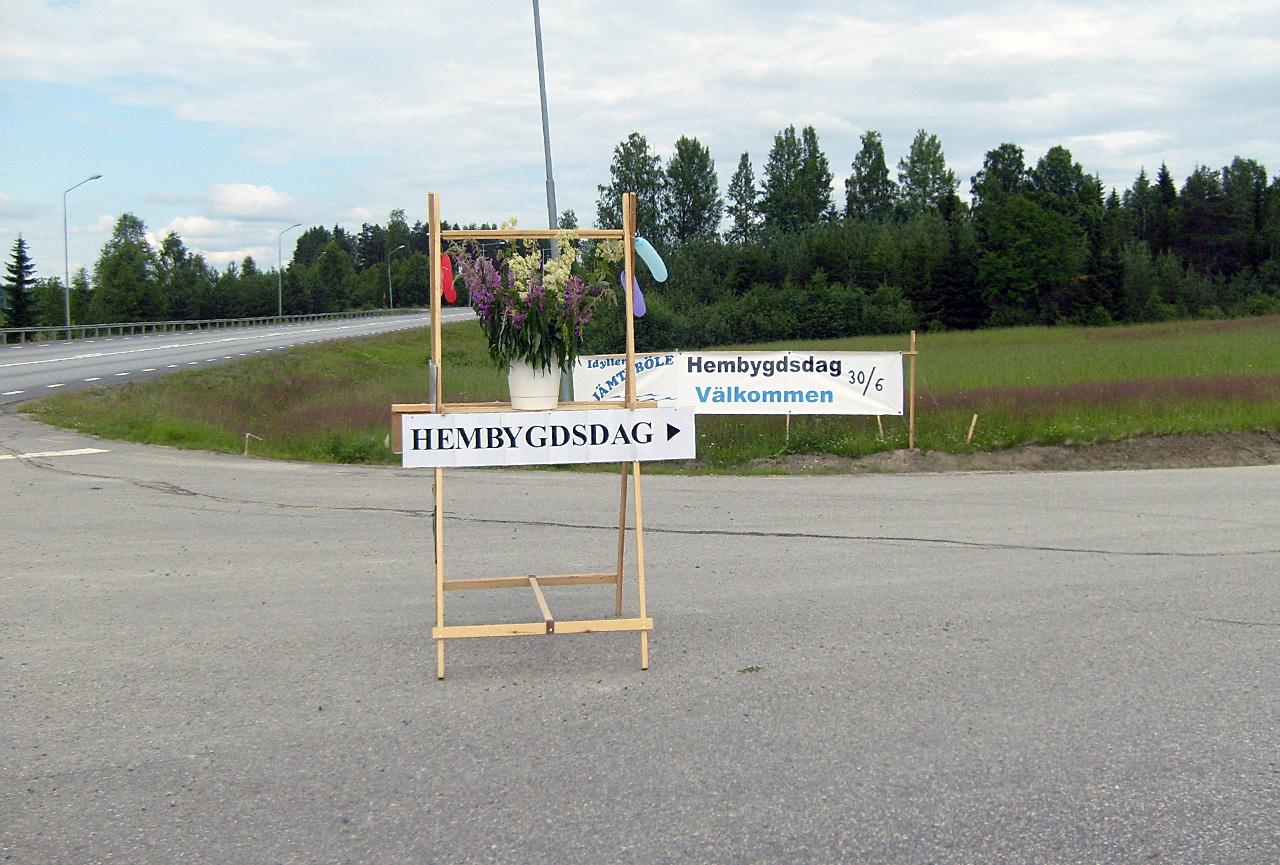 Skylt till Jämteböles hembygdsdag 2013