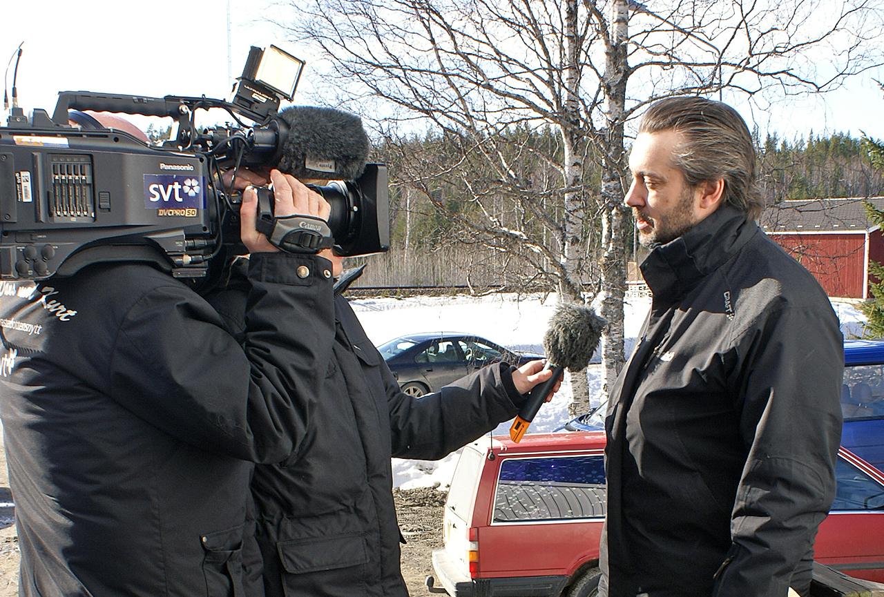 Inflyttningskampanjen / Tväråbäcksdagen 25 mars 2012 - SVT intervjuar Lennart Engström